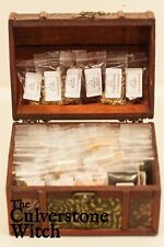 Chest of 50 Herbs, 6 Resins , 3 Salts - Witch Wicca Pagan Witchcraft Charm Spell