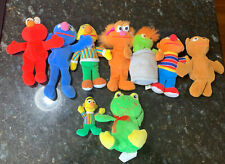 Vintage 1997 Tyco Sesame Street Bean Plush Toys Lot Of 7