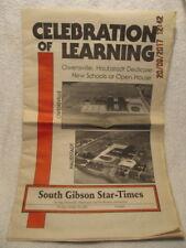 1993 Newspaper Section Covers Dedication of Owensville & Haubstadt Schools IN