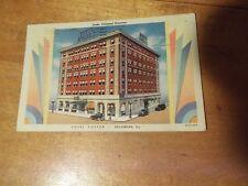 1938 Hotel Custer Galesburg Illinois Under Schimmel Direction Vintage Postcard
