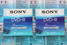 Mini DVD -R disque Sony 30min Lot de 8 cm pour camescope 1,4 gb go boite indiv.