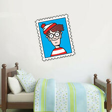 Where's Wally Wall Sticker - Stamp Art Decal Mural Vinyl Graphic