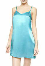 La Perla Dolce Collection S 100% Silk Chemise Green Classic Simple Elegant New