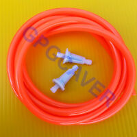 Go Cart Kart Racing Clone GX160 GX200 ORANGE 6ft fuel line hose & two filter kit