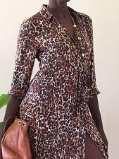 Next ladies Animal print dress Uk size 6-8 summer lightweight midi button down