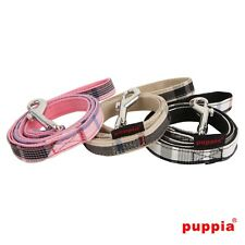 Dog Puppy Leash Lead - Puppia - Junior Collection - Black, Pink, Beige