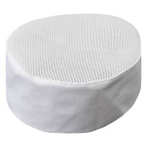 New Women Men Chef Hat Waiter Mesh Top Hat Round Caps For Hotel Kitchen Work Hat
