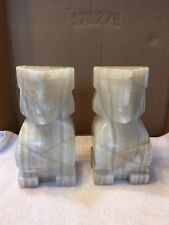 Vintage Mexican Onyx/Marble Bookends