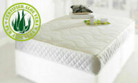 Natural Memory Foam Spring Mattress - Pure Aloe Vera Natural Cover