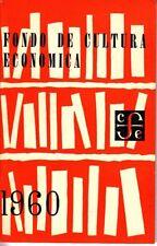 Fondo de Cultura Economica 1960 Mexico Small Booklet