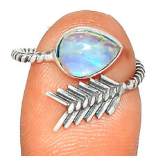 Arrow - Moonstone - India 925 Sterling Silver Ring Jewelry s.5 BR84782