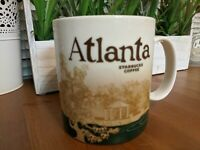 Starbucks Atlanta Georgia Global Icon 16oz Coffee Mug 2010 Collector Series Rare