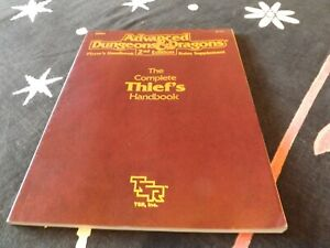Advanced D & D 2nd Edition The Complete Thief's Handbook 2111 Paperback Book