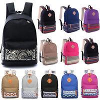 Boho Women Backpack Canvas School Rucksack Travel Satchel Girl Book Shoulder Bag