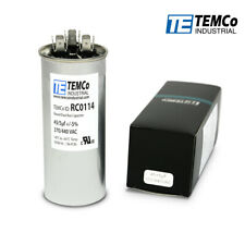 TEMCo 45+5 uf/MFD 370-440 VAC volts Round Dual Run Capacitor 50/60 Hz -Lot-1