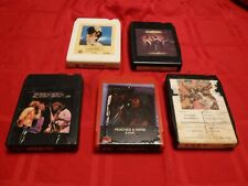 Lot 5 Disco 8 Track Tapes Rod Stewart Bee Gees Peaches & Herb Foxy Sexy Dancing
