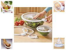 Lot de 3 magic couvercles vide seal aliments frais de rangement en plastique bol cuisine frigo
