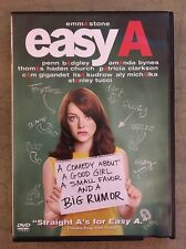 Easy A (DVD, 2010, Widescreen) Emma Stone, Stanley Tucci Free USA Shipping
