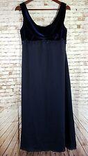 Cachet Womens Size 10P Blue Evening Formal Dress Sleeveless Velvet Empire Waist