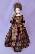 "18"" Greiner Papier Mache Shoulder Head Fashion Doll c1840"