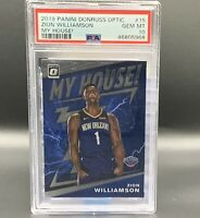 Zion Williamson RC *PSA 10* My House! 2019 Panini Donruss Optic #15 Pelicans NBA