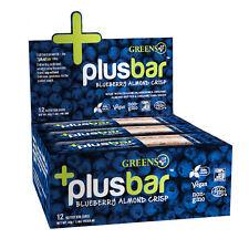 Green Plus +PlusBar Blueberry Almond Chia Crisp 12 Nutrition Bars, 1.4oz per Bar