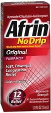 Afrin No Drip Original Nasal Decongestant Pump Mist 15 mL