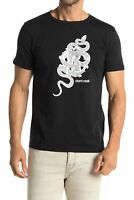 Roberto Cavalli Snake Graphic Crew Short Sleeve T-Shirt BLACK HST607A47505051