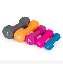 Cap Neoprene Hex Dumbbell Pair Select Weight 10LB, 8LB, 5LB Fitness Dumbbells