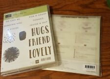 STAMPIN UP LOVELY INSIDE & OUT RUBBER STAMP SET & LOVELY WORDS THINLITS