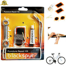 Bicycle Puncture Repair Kit Cycle Tyre Patch Repair Lever Spanner Tool Blackspur