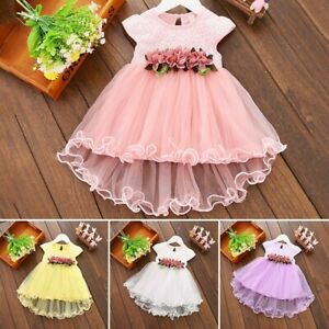 0-2 Years Baby Girls Summer Outfits Toddler Girls Flower Princess Party Dresses
