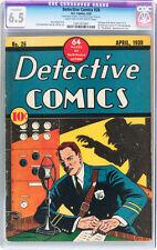 DETECTIVE COMICS #26 (1939) CGC 6.5 FN+ 1st Mention of Batman RARE