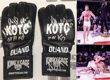 Phil Baroni Signed 2018 Fight Used Worn KOTC Gloves BAS Beckett COA UFC Pride FC