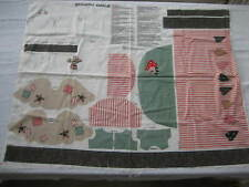 New Old Stock SPRINGS IND Country Angel Stuffed Doll Fabric Panel Cut & Sew