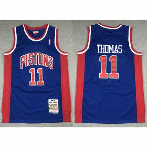11 Isiah Thomas Detroit Pistons 1988-89 Classics Men's Swingman Jersey Blue New