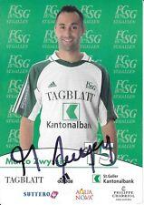 Marco Zwyssig  FC St.Gallen  Fußball Autogrammkarte signiert 371336