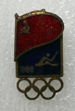1988 Seoul Olympic Russian CANOE SPRINT Team Official Badge Pin Russia Olympiad