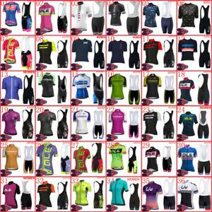New Women Cycling Short Sleeve Jersey Cycling Jersey Bib Shorts Set Bike Outfits