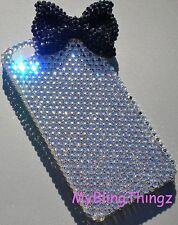 Bling Rhinestone w/ Black BOW Back Case for iPhone SE 5 5S w/ Swarovski Crystal
