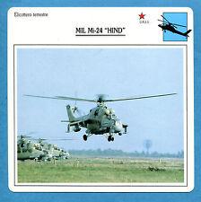 SCHEDA TECNICA ELICOTTERI - MIL Mi24 HIND - (URSS)