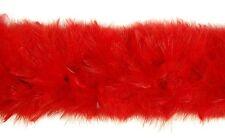 "SWAN FEATHER BOA - RED 12""-14"" In Diameter 2 Yard Boa (Halloween/Bridal/Costume)"