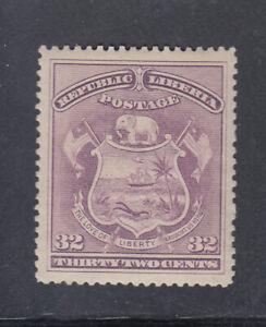 Liberia # 46a Mint COLOR ERROR LILAC Coat of Arms1892 Waterlow SCARCE! CV $110