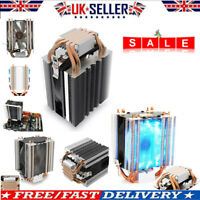 LED CPU Cooler Heatsink 4-Heatpipe Radiator for Intel LGA 775 1150 1151 1156 AMD