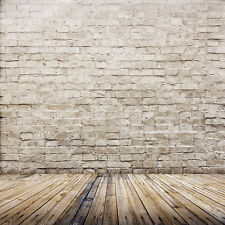 Us 6X9Ft Brick Wood Floor Vinyl Photography Backdrop Background Studio Props Z44