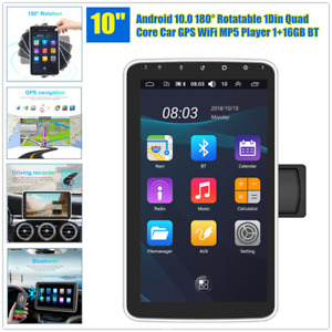 """10"""" Rotatable Android 10.0 1Din Car GPS WiFi MP5 Player 4-Core  Mirrorlink 1+16G"""