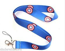 Cinderella's Lanyards Office ID Card Holder - Captain America - Super Hero