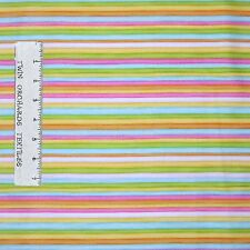 Nursery Baby Fabric - Woodland Cuties Rainbow Stripe - Henry Glass YARD