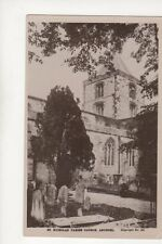 St Nicholas Parish Church Arundel [255] Vintage RP Postcard 197b