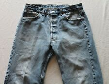 """USA Made LEVI 501xx Blue Jeans Tag-36""""x32"""" Actual-33""""x26"""" Vintage Button Fly"""